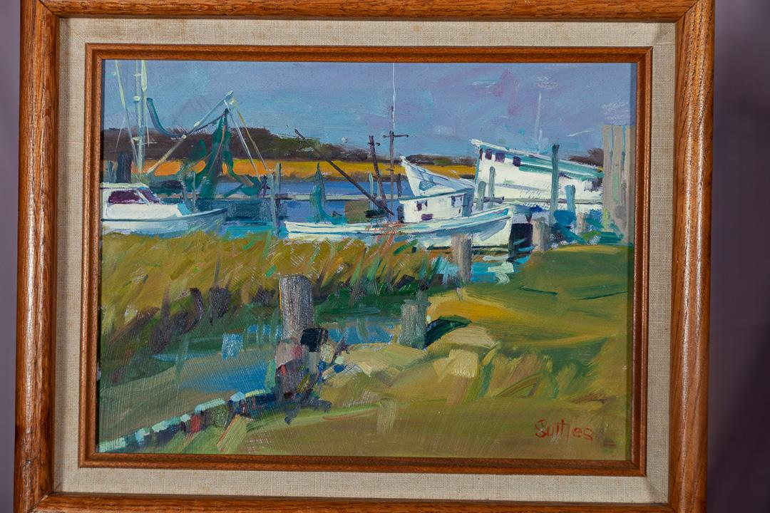 Boats At Folley; Oil; 5x5; $450